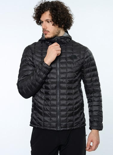 The North Face Outdoor Kapüşonlu Şişme Mont Gri